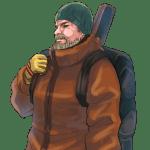 雪山装備の男, man