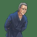 甚平を着た老人, eldery, kimono