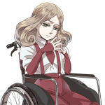 車椅子に乗った少女 , wheelchair