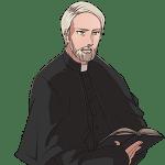 神父, ヒゲ, priest, beard