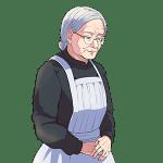 年配の女性, メイド, 使用人, woman, elder-female, maid